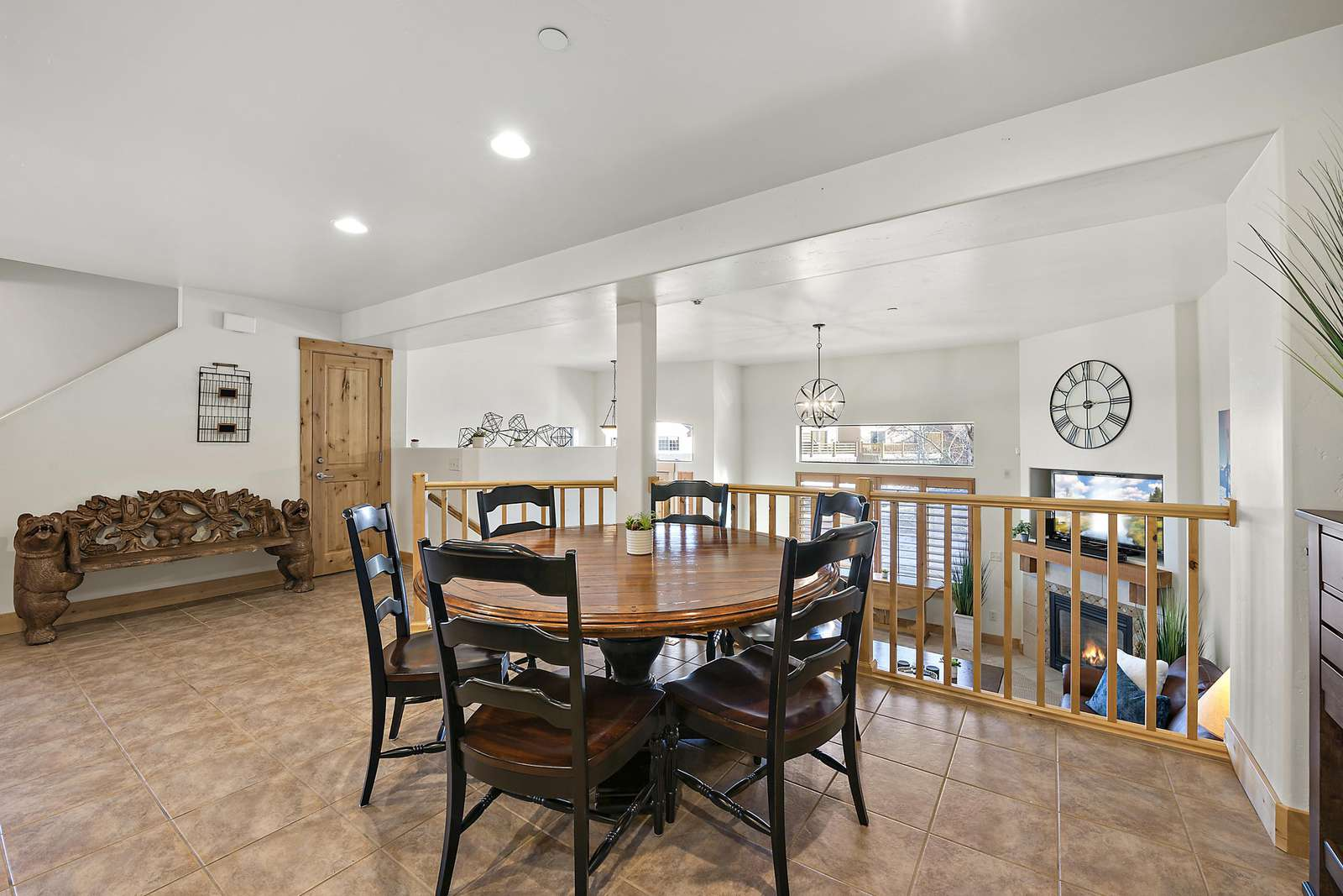 Dining area right above living space