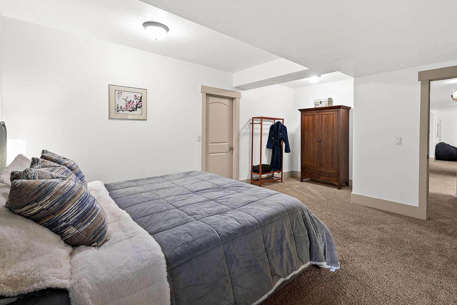 Plenty of storage space in master bedroom