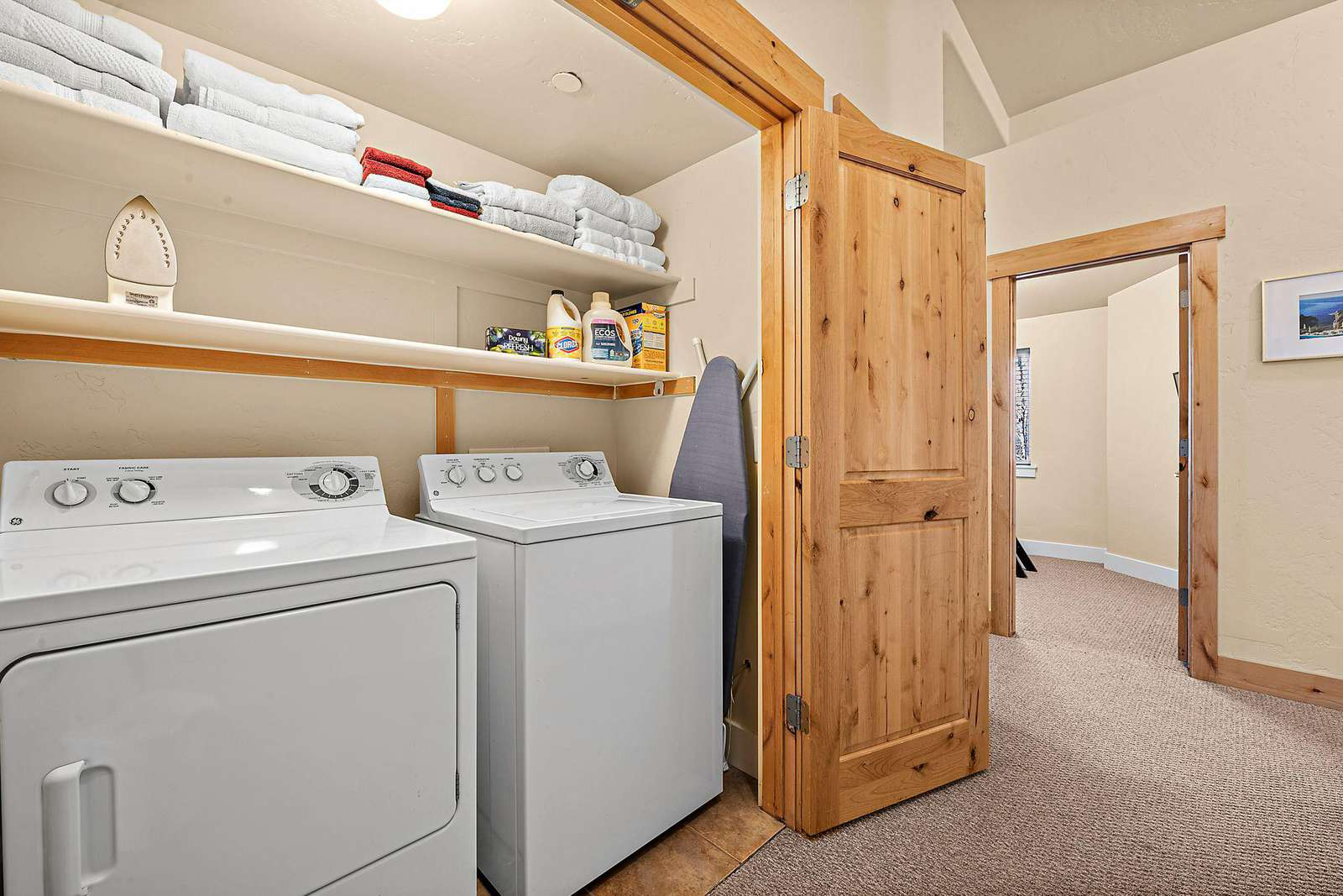 Washer and dryer available in property