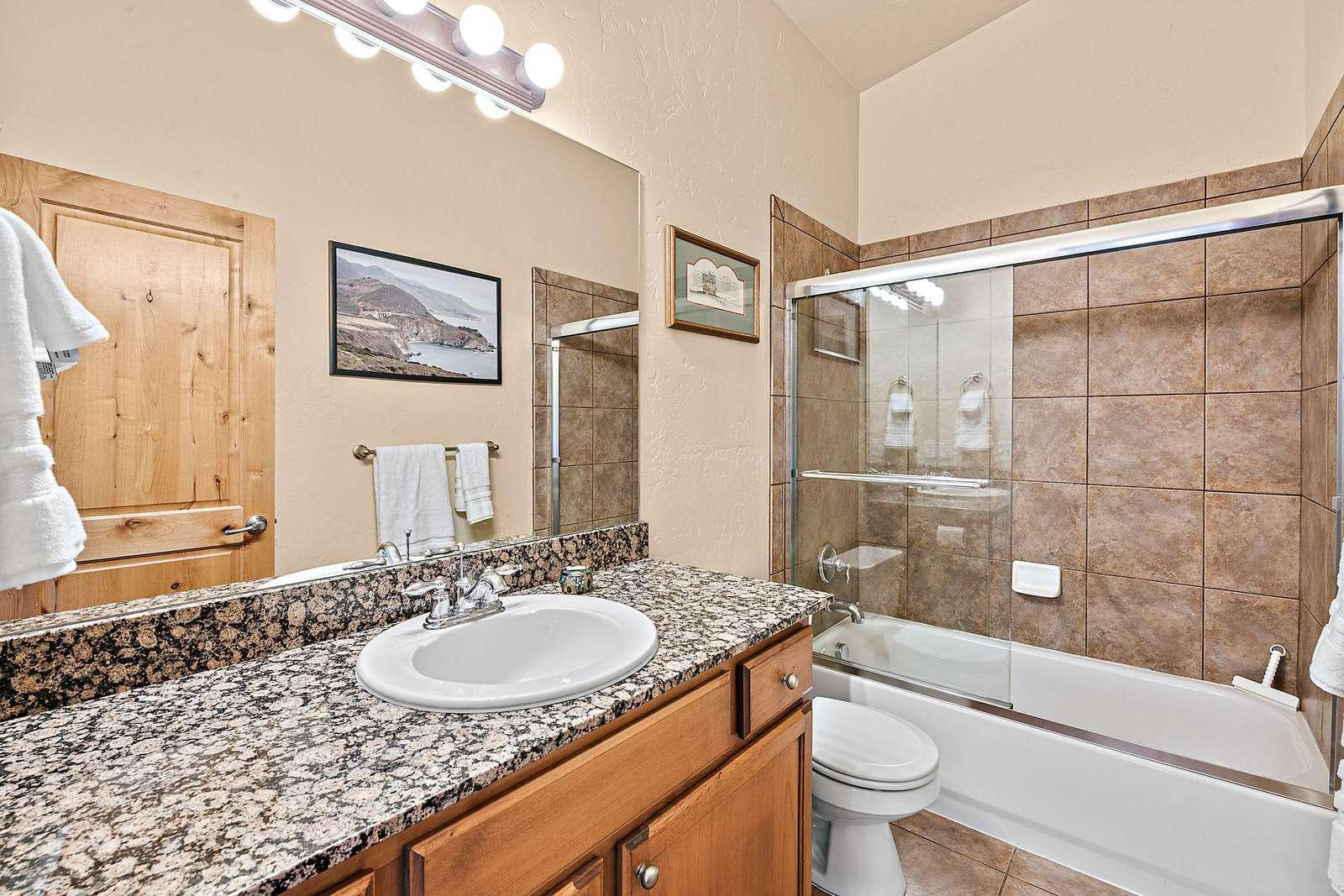 Shared bathroom for top floor guest bedrooms