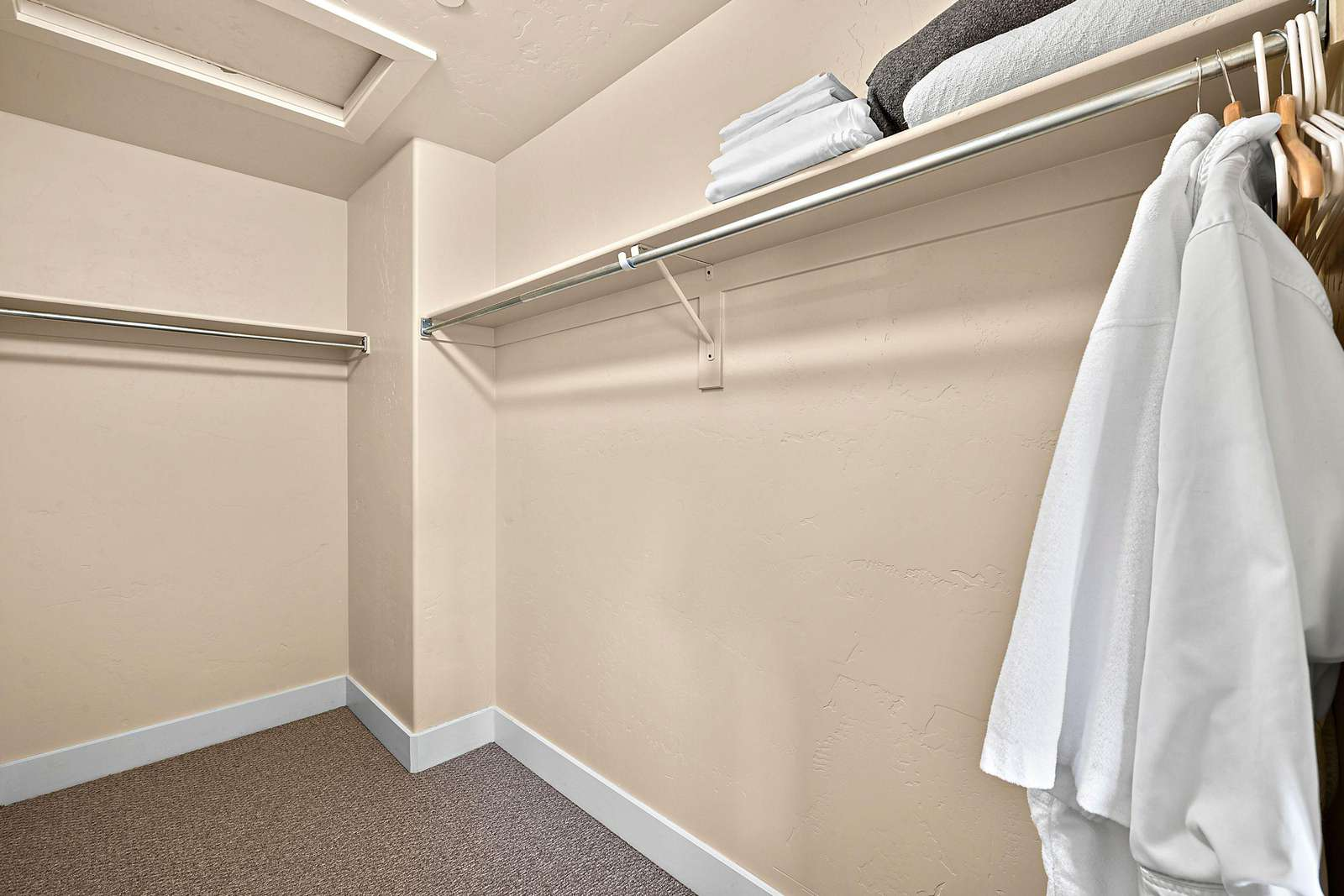 Master closet space, other closets available in the property
