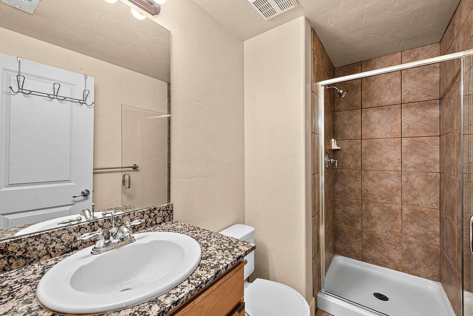 Bottom floor bathroom
