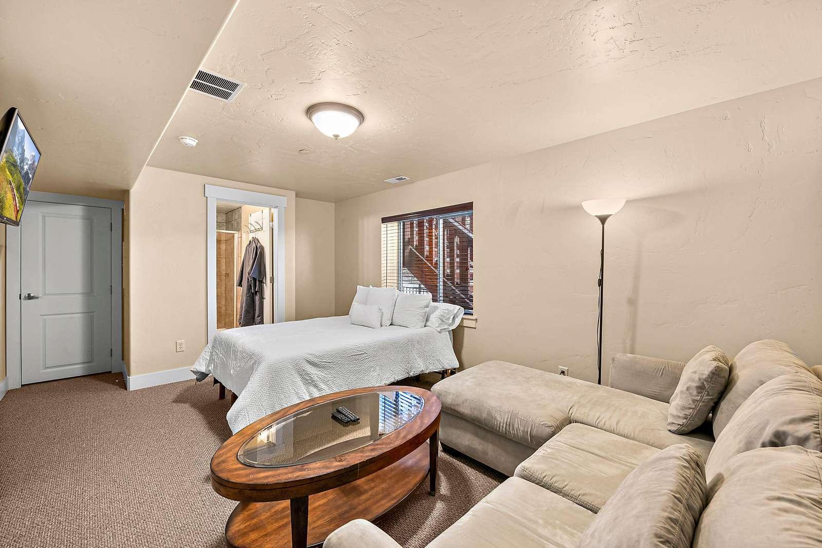 Bottom floor guest bedroom