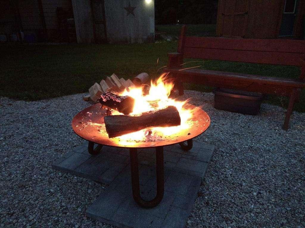 Crackling Fire pit