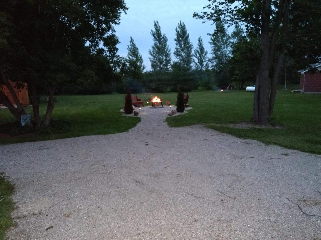 Parking area, fire pit and your yard