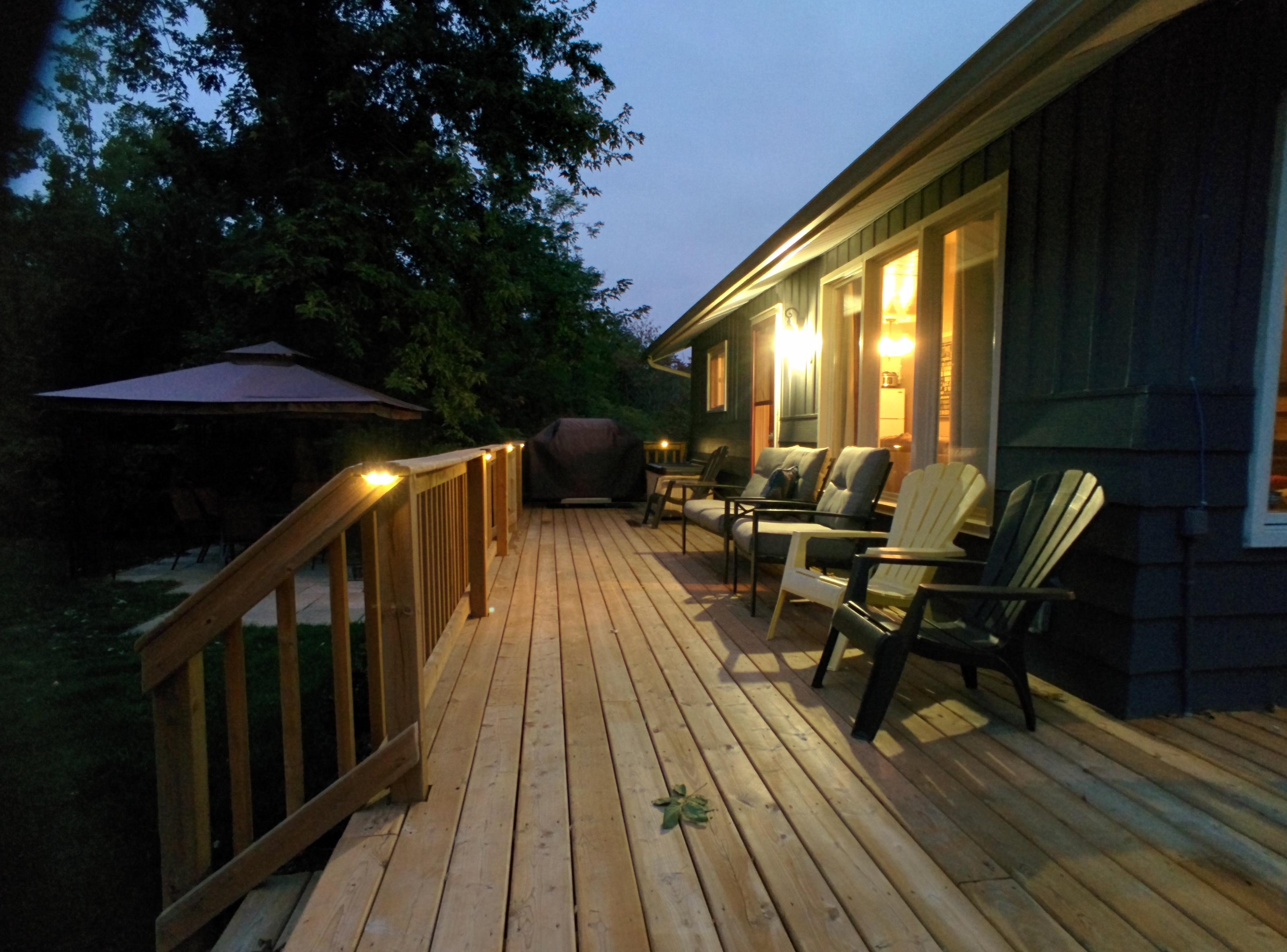 Relax and reconnect on the deck.