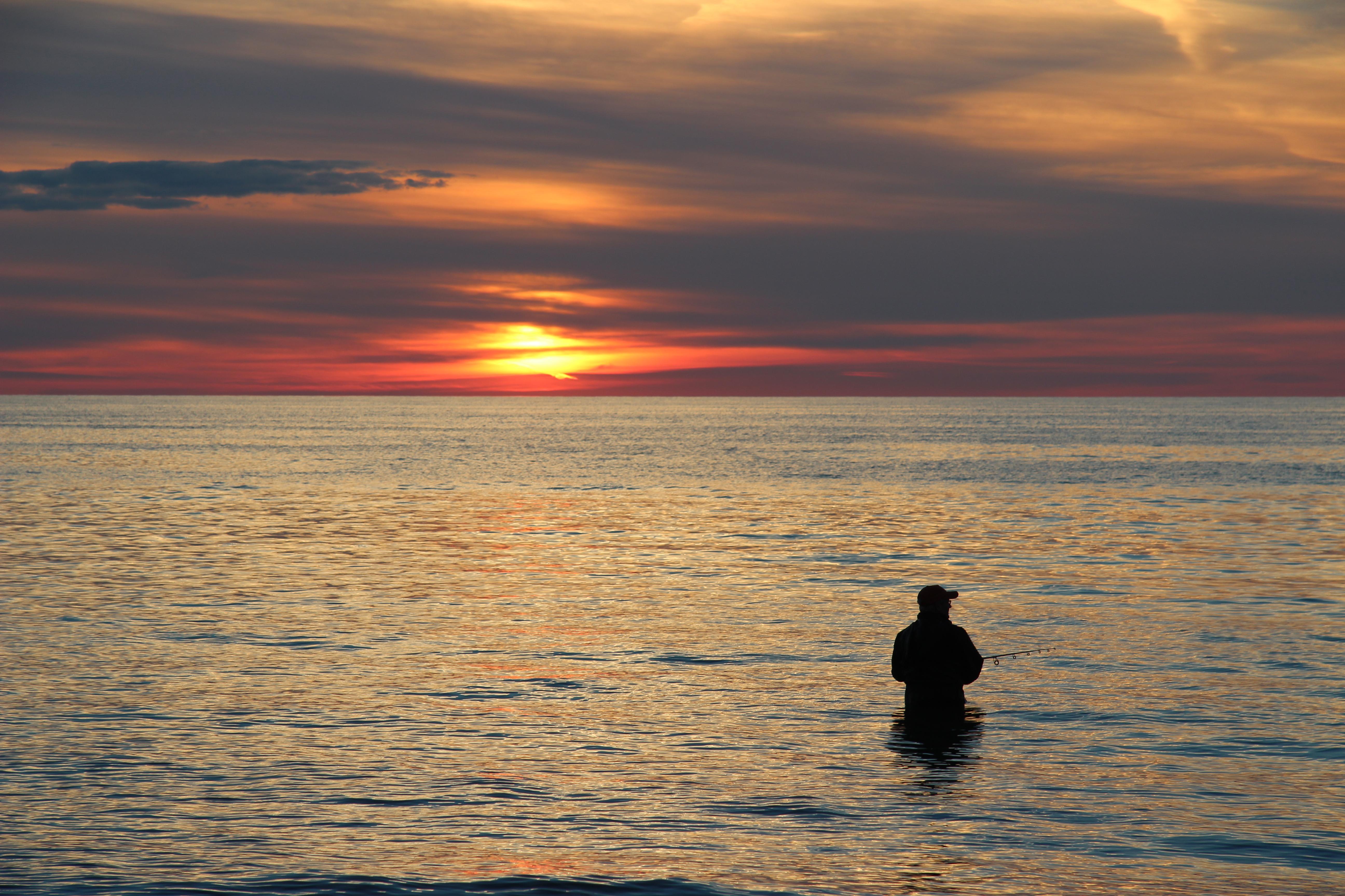 Port Albert Fishing at Sunset