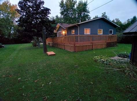 Back Yard view Lake Street Cottage