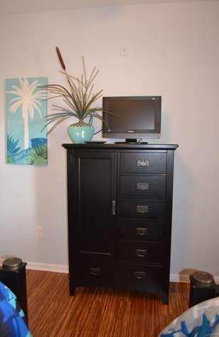 Flatscreen TV and DVD player