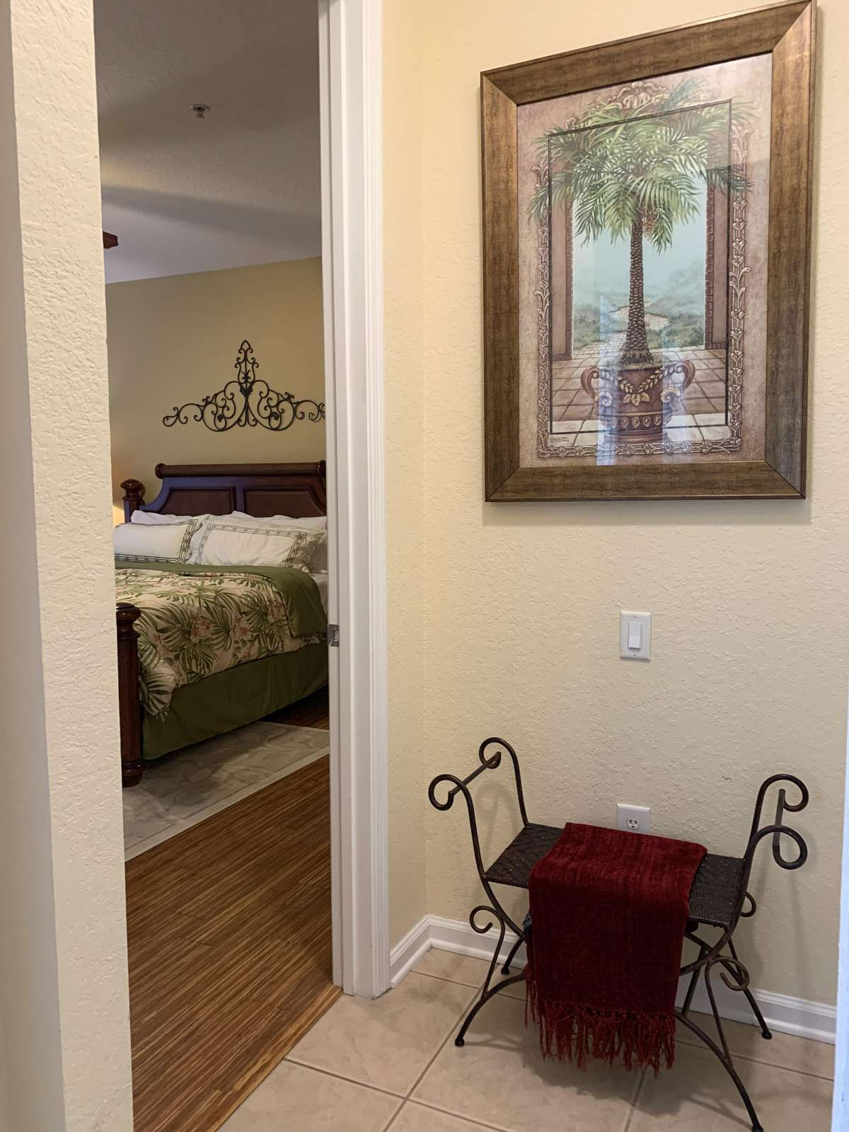 Entrance to the master bedroom