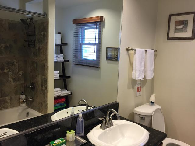Bathroom with shower & bathrub