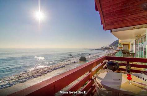 #96 Classy Malibu Oceanfront house on Moon Shadows Beach