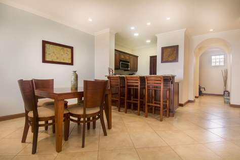 View of dining area and breakfast bar